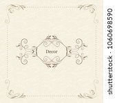 vector decorative frame.... | Shutterstock .eps vector #1060698590