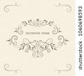 vector decorative frame.... | Shutterstock .eps vector #1060698593