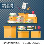 paper documents and file...   Shutterstock .eps vector #1060700633