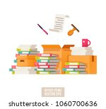 paper documents and file...   Shutterstock .eps vector #1060700636