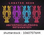 lobster silhouette different... | Shutterstock .eps vector #1060707644