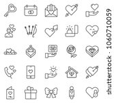thin line icon set   rose... | Shutterstock .eps vector #1060710059