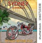 vintage sydney  australia... | Shutterstock .eps vector #1060710338