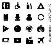 solid vector icon set  ... | Shutterstock .eps vector #1060710440