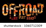 off road grunge tyre lettering. ... | Shutterstock .eps vector #1060712309