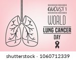 world lung cancer day.... | Shutterstock .eps vector #1060712339