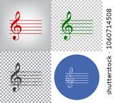 music violin clef sign. g clef. ... | Shutterstock .eps vector #1060714508