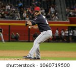 Small photo of D-Backs- Nick Goody pitcher for the Cleveland Indians at Chase Field in Phoenix, Arizona USA March 26,2018.