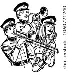 high school band   retro clip... | Shutterstock .eps vector #1060721240
