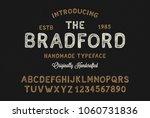 original handmade alphabet.... | Shutterstock .eps vector #1060731836