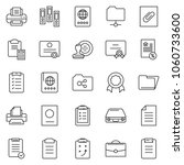 thin line icon set   stamp... | Shutterstock .eps vector #1060733600