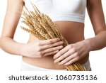close up of woman wearing... | Shutterstock . vector #1060735136