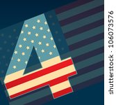 vector 4th of july independence ... | Shutterstock .eps vector #106073576