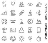thin line icon set   newspaper... | Shutterstock .eps vector #1060738373