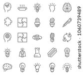 thin line icon set   idea... | Shutterstock .eps vector #1060739489