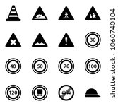 solid vector icon set   road... | Shutterstock .eps vector #1060740104