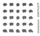bubble speech chat icon set...