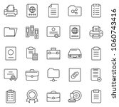thin line icon set   stamp... | Shutterstock .eps vector #1060743416
