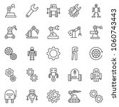 thin line icon set   wrench... | Shutterstock .eps vector #1060743443