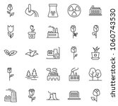 thin line icon set   factory... | Shutterstock .eps vector #1060743530