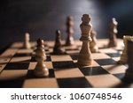 chess on chessboard close up | Shutterstock . vector #1060748546