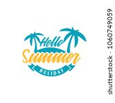 summer holiday logo template ... | Shutterstock .eps vector #1060749059