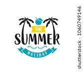 summer holiday logo template ... | Shutterstock .eps vector #1060749146