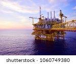 offshore platform of the in sea ...   Shutterstock . vector #1060749380