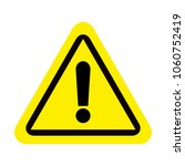attention sign icon. warning... | Shutterstock .eps vector #1060752419