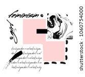 feministic collage. feminism ... | Shutterstock .eps vector #1060754000