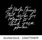 motivation hand lettering... | Shutterstock .eps vector #1060754849