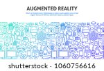 augmented reality concept.... | Shutterstock .eps vector #1060756616