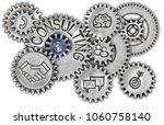 photo of tooth wheel mechanism...   Shutterstock . vector #1060758140