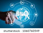 seo. search engine optimization ... | Shutterstock . vector #1060760549