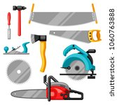 set of equipment and tools for... | Shutterstock .eps vector #1060763888