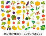 fruits and vegetables in vector ... | Shutterstock .eps vector #1060765136