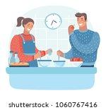 vector cartoon illustration of... | Shutterstock .eps vector #1060767416