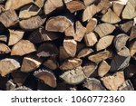 wooden background. firewood for ...