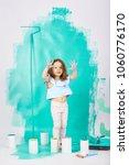 blonde blue eyed little girl...   Shutterstock . vector #1060776170