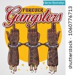 forever gangsters print for t... | Shutterstock .eps vector #1060776713
