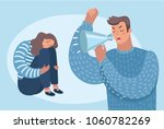 vector cartoon illustration of... | Shutterstock .eps vector #1060782269