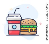 burger vector icon. fast food... | Shutterstock .eps vector #1060787249
