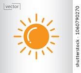 sun icon vector | Shutterstock .eps vector #1060790270