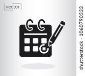 calendar  pencil  marking day ... | Shutterstock .eps vector #1060790333
