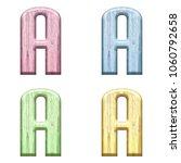 assorted pastel color wooden... | Shutterstock . vector #1060792658