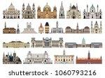 vector landmarks  city halls ... | Shutterstock .eps vector #1060793216