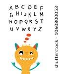 cute monster character  design...   Shutterstock .eps vector #1060800053