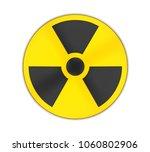radioactive sign symbol... | Shutterstock . vector #1060802906