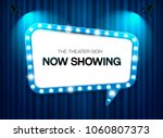 theater sign on curtain... | Shutterstock .eps vector #1060807373