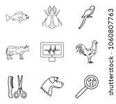 injured animal icons set.... | Shutterstock .eps vector #1060807763